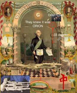 Orion Found In Freemasonic Mural and Possibly Nazca Alien In Coffin