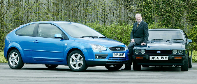 Richard Parry-Jones with 2005 Ford Focus