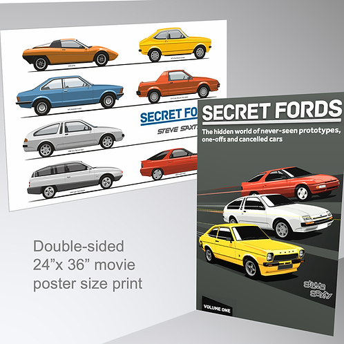 Secret Fords Double-sided poster (Ships in tube)