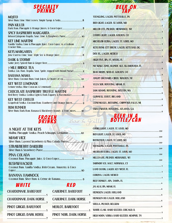 76679 The Keys Bar and Grill menu_proof