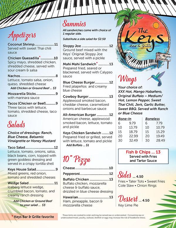 81077 The Keys Bar & Grille menu_FOOD Summer 2021.jpg