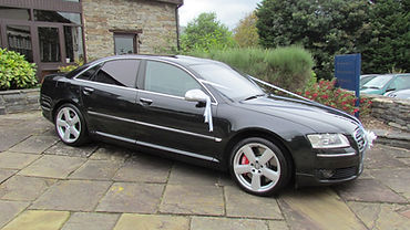 Luxury chauffuer driven black Audi A8 wedding cars in Swindon Wiltshire