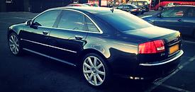 Audi A8 W12 Black Chauffeur Car