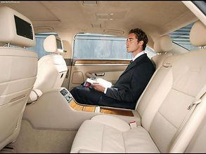Audi A8 chauffeur car interior