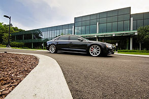 Our Big Black Audi A8 taking you in style and comfort to your meeting