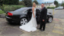 Luxury Black Audi A8 Chauffeur Car for Swindon Weddings