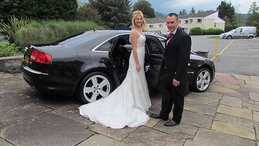 Luxury Black Audi A8 Chauffeur Car for Swindon Weddings