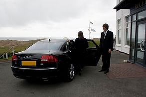 Big black chauffeur car for business travel - Swindon