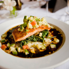 Mediterranean Quinoa Salad w/Salmon
