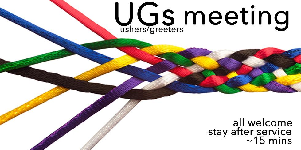 Usher Greeter Meeting