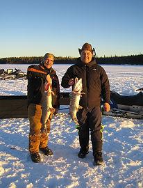Fish caught on lake ice fishing