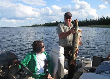 Fish caught on lake