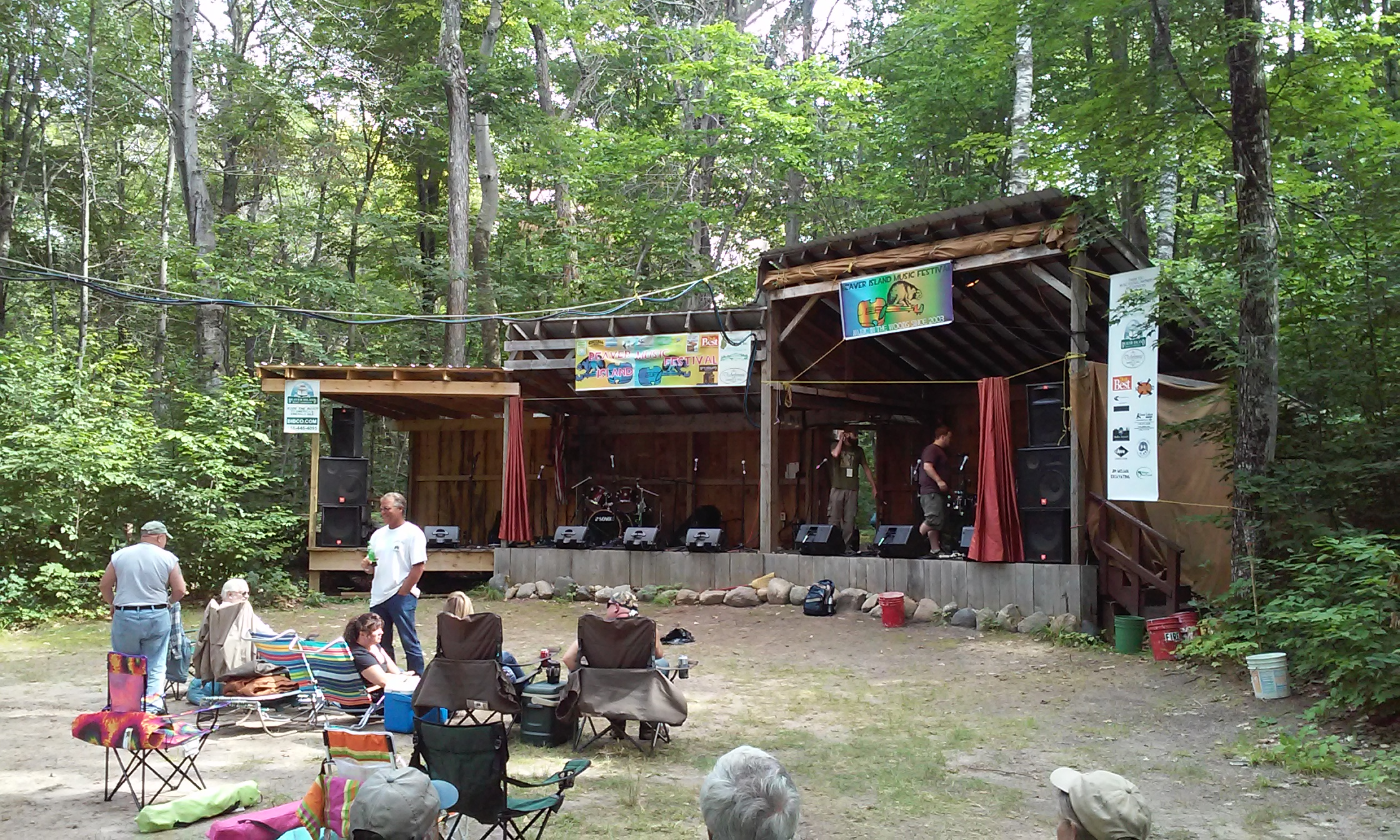 Beaver Island Music Festival Stage