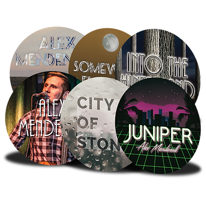 Set of 6 Buttons: Somewhere Else Set, Into the Hinterland Set, City of Stone Set