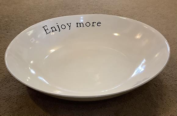 "Enjoy More pasta bowl by Kathy 15"""
