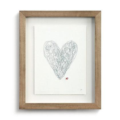 Scribble Heart Wall Art