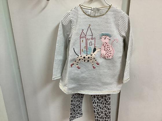 Mudpie girls princess tunic and legging set