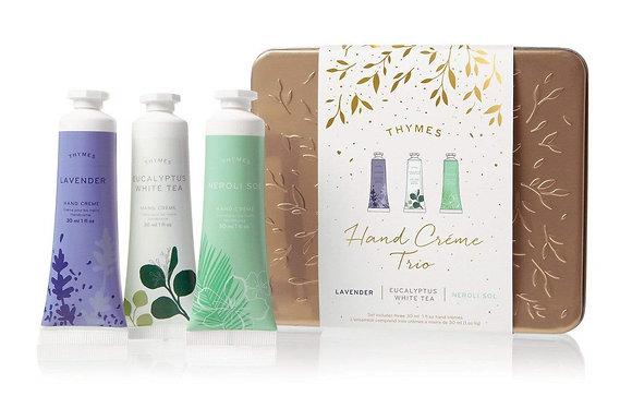 Thymes Hand Creme Trio - Lavender, Eucalyptus White Tea, Neroli Sol