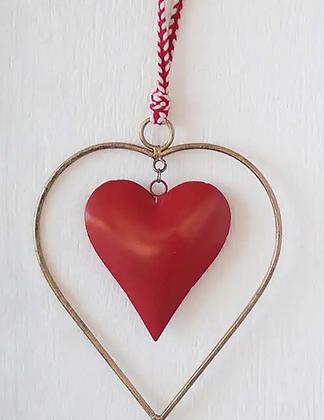 Metal Heart Door Hanger