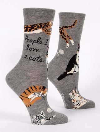PEOPLE I LOVE: CATS W-CREW SOCKS