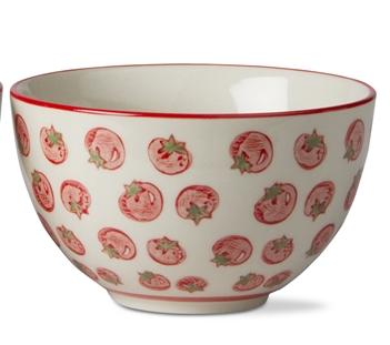 Tomato Stamped Bowl