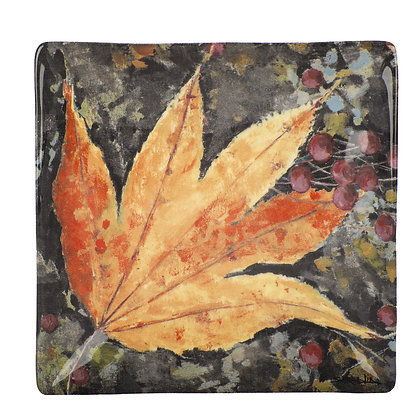 Colors of Fall Leaf Plate