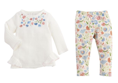 Embroidered Floral Tunic & Leggings