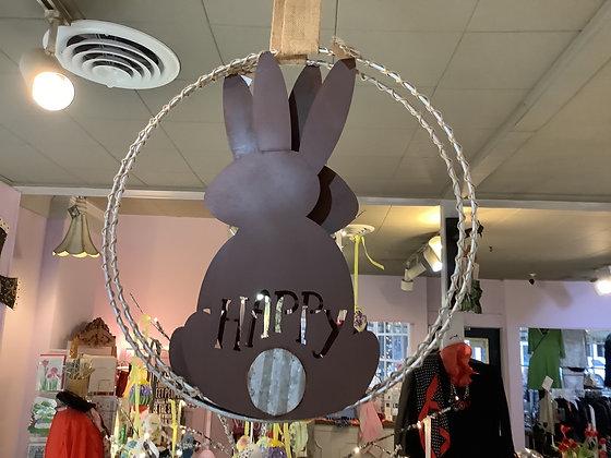 Round bunny hanger