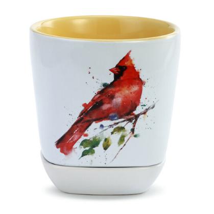 Cardinal Cup and Trinket Set