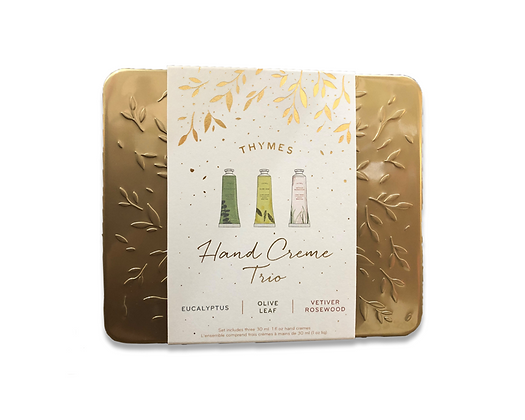 Thymes Hand Creme Trio - Eucalyptus, Olive Leaf& Vetiver Rosewood