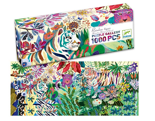 Rainbow Tigers Gallery Puzzle