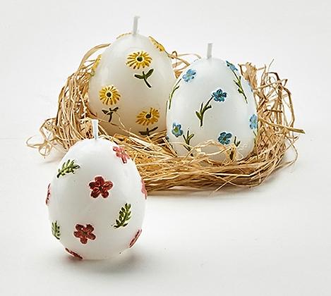 Floral Egg Candles