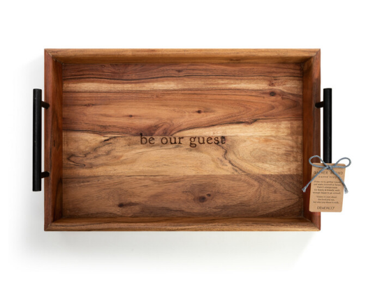 Be Our Guest Wood Serving Tray