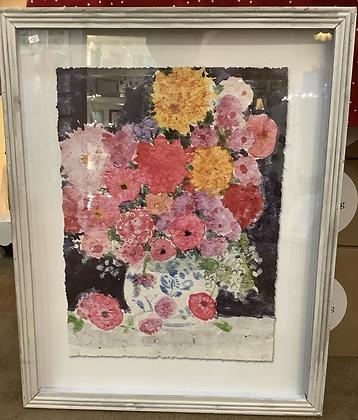 Raz Imports framed flower picture