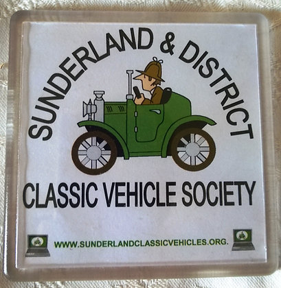 Clear Plastic Coaster with SDCVS logo