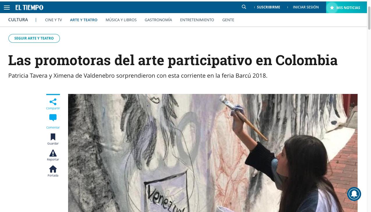 Las promotoras del arte participativ