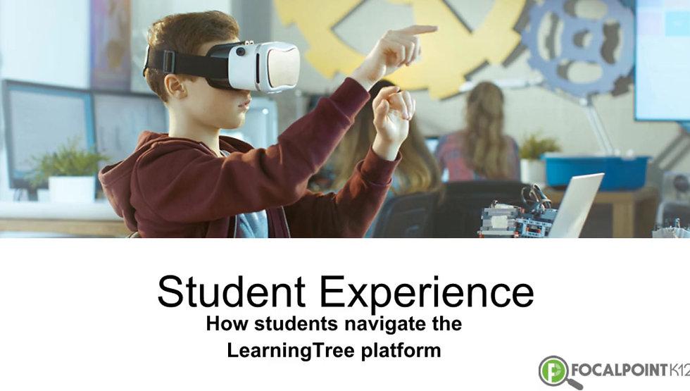 How students navigate the LearningTree platform