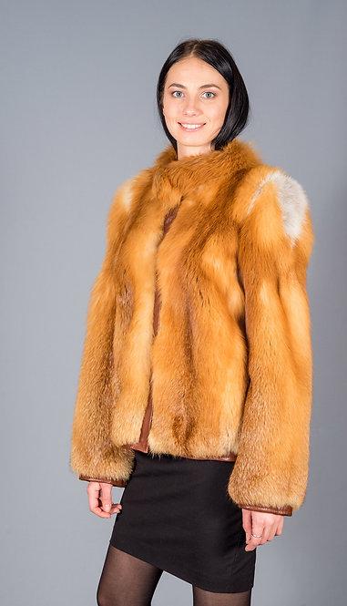 куртка лиса красная канадская