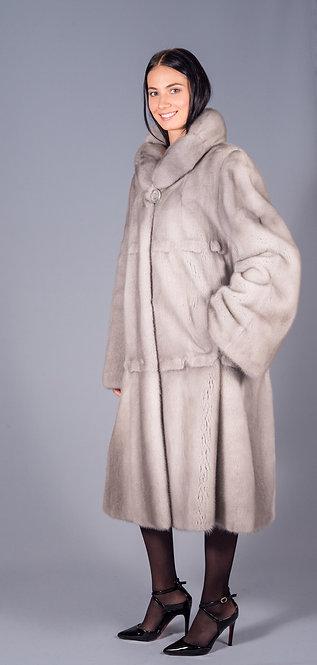 пальто норка сапфир