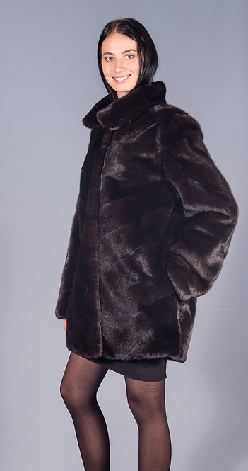 полу пальто норка scblack