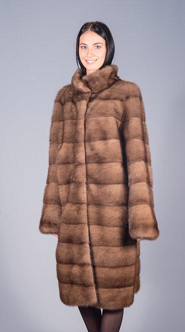 пальто норка пастель