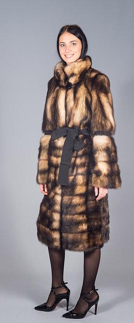 пальто хорь натуральный