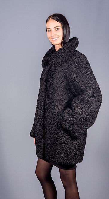 полу пальто каракуль