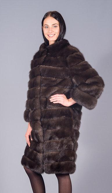 пальто соболь клеточный