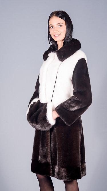 пальто норка scblack + белая