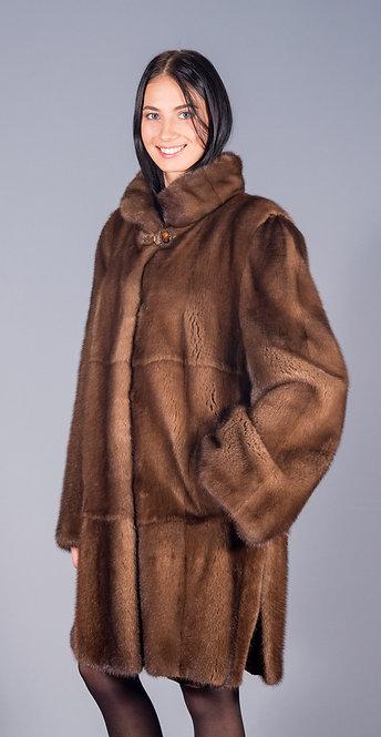 пальто норка scbrown