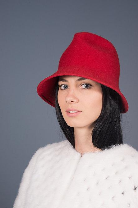 красная шляпка фетр