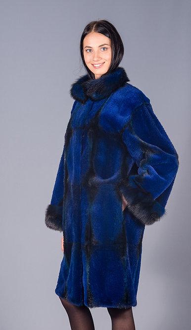 пальто хорь крашенный