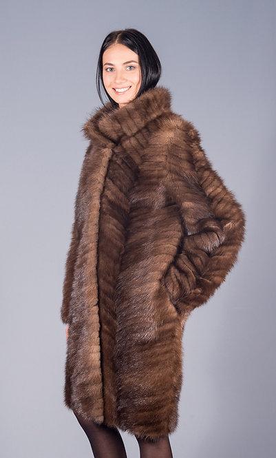 пальто норка scbrown хвосты