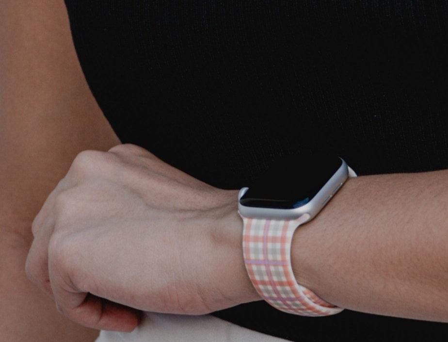 Summer Gingham Apple Watch Strap